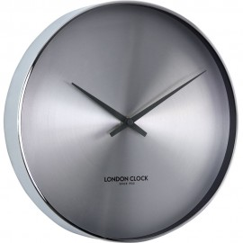 Element Chrome Wall Clock 27.5cm