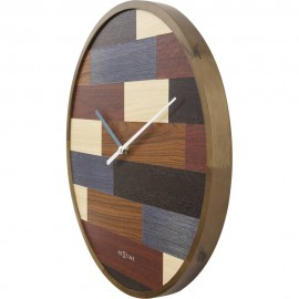 Patch Wood Wall Clock 45cm