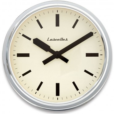 American Diner Deep Case Chrome Wall Clock 36cm