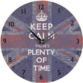 Keep Calm Union Jack Wall Clock 28.5cm, 36cm or 45cm