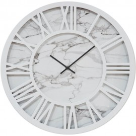 Wall Clock White Cut Out Dial Roman Numerals 40cm