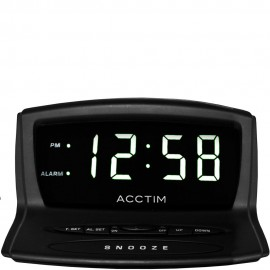 Eos Black USB Smart Connector Digital Alarm Clock 14cm