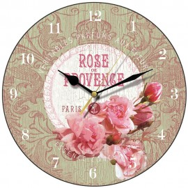 Apple Green Rose De Provence Wall Clock 28.5cm