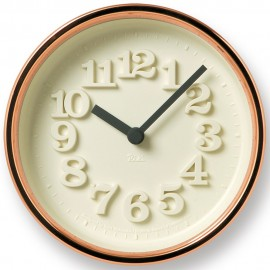 Small Copper Wall Clock 12.2cm