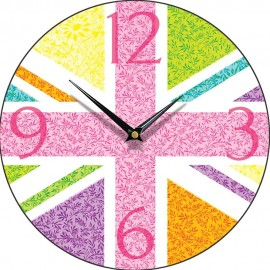 Union Jack Multiflora Wall Clock 28.5cm