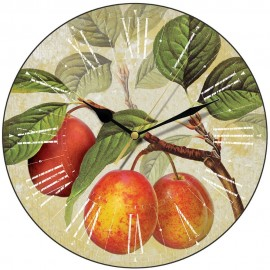 Golden Plums Wall Clock 28.5cm