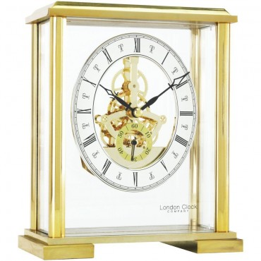 Gold Skeleton Mantel Clock 16cm