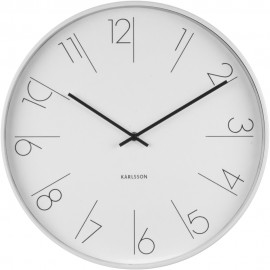 Elegant Numbers White Wall Clock 40cm