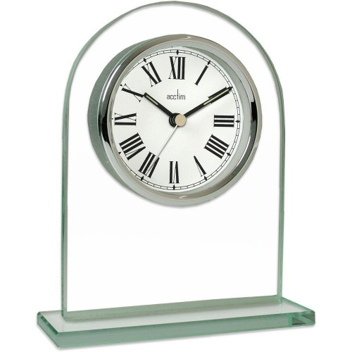 Adelaide Glass Mantel Clock 16.4cm