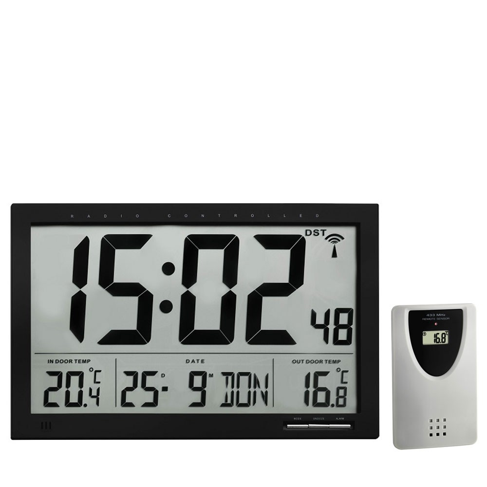La Crosse Xl Radio Controlled Wall Clock With Temperature