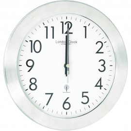 Radio Controlled Silver Wall Clock 26cm