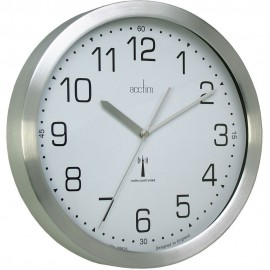 Mason Silver Radio Controlled Wall Clock 25cm