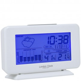 White Weather Forecaster Alarm Clock 10cm