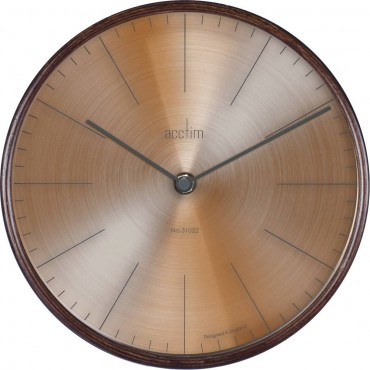 Strathblane Dark Wood Wall Clock 22cm