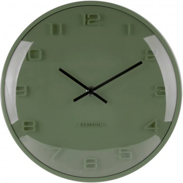 Elevated Green Wall Clock 25cm