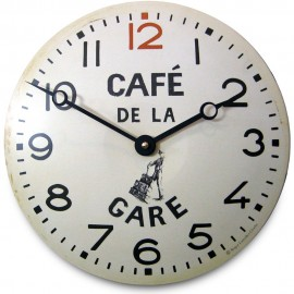 French Railway Convex Wall Clock 28cm