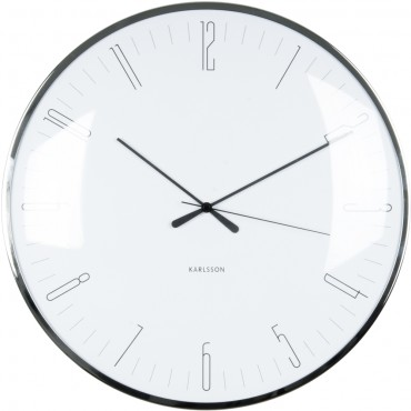 Dragonfly White Wall Clock 40cm