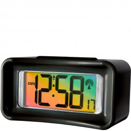 Guardia Colour-Change Radio Controlled Digital Alarm Clock 13.5cm