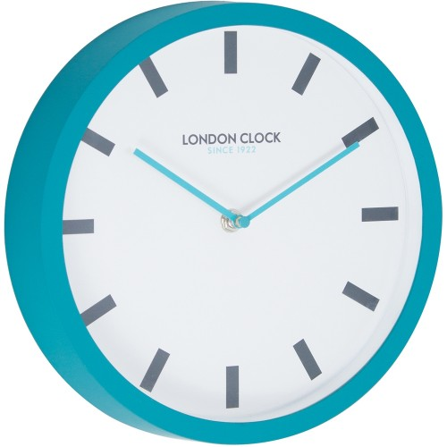 Pop Wall Clock Teal 25cm