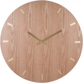 XL Light Wood Wall Clock 70cm