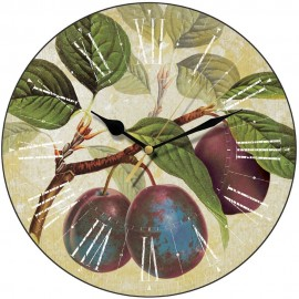 Purple Plums Wall Clock 28.5cm