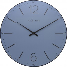 Index Dome Blue Wall Clock 35cm
