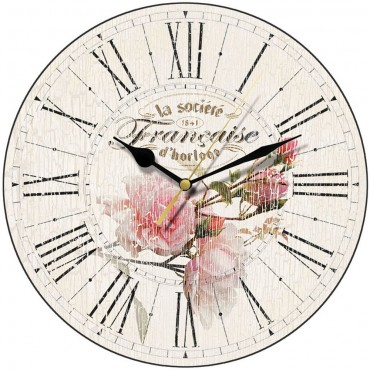 French Rose Wall Clock 28.5cm