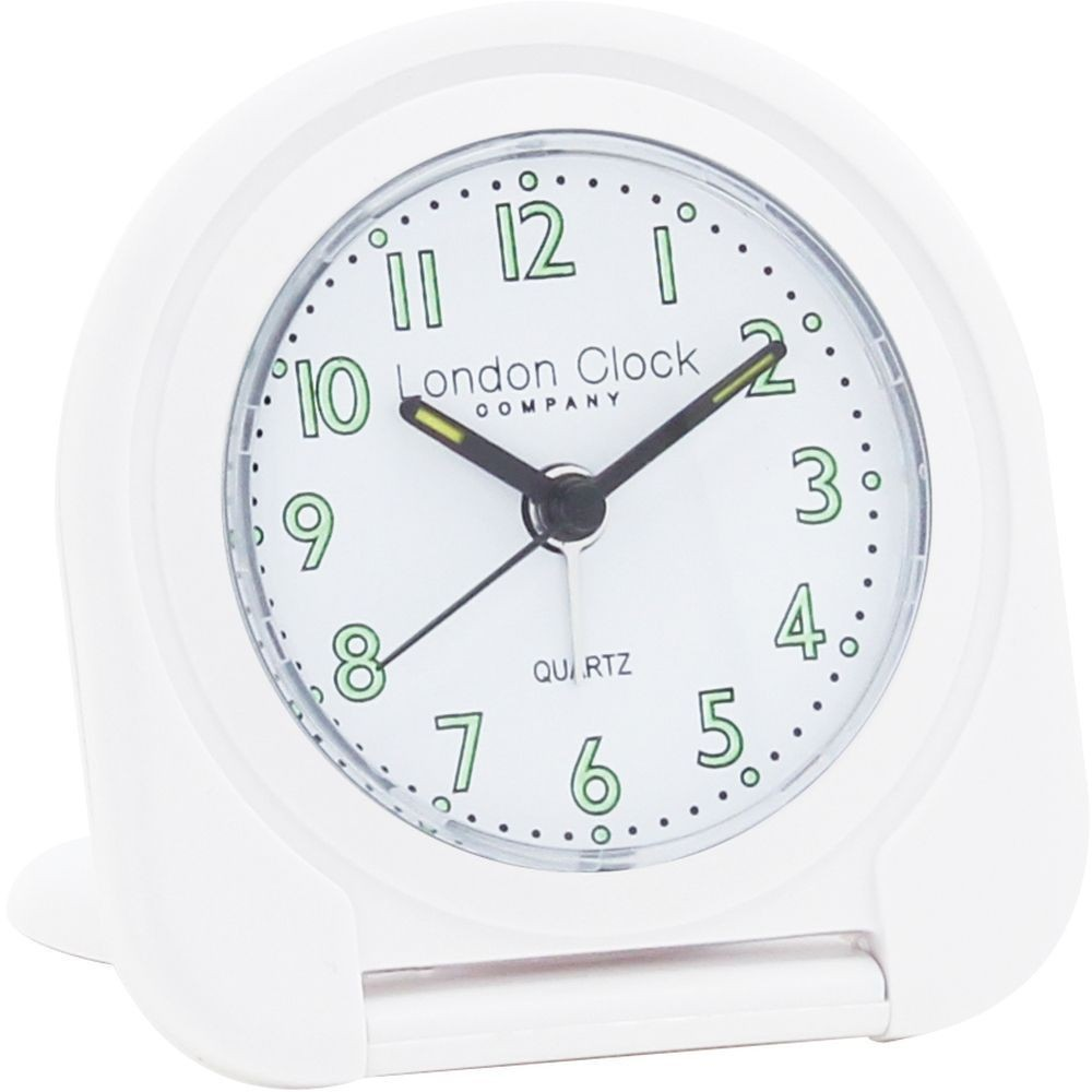 White flip alarm clock 8cm White flip clock