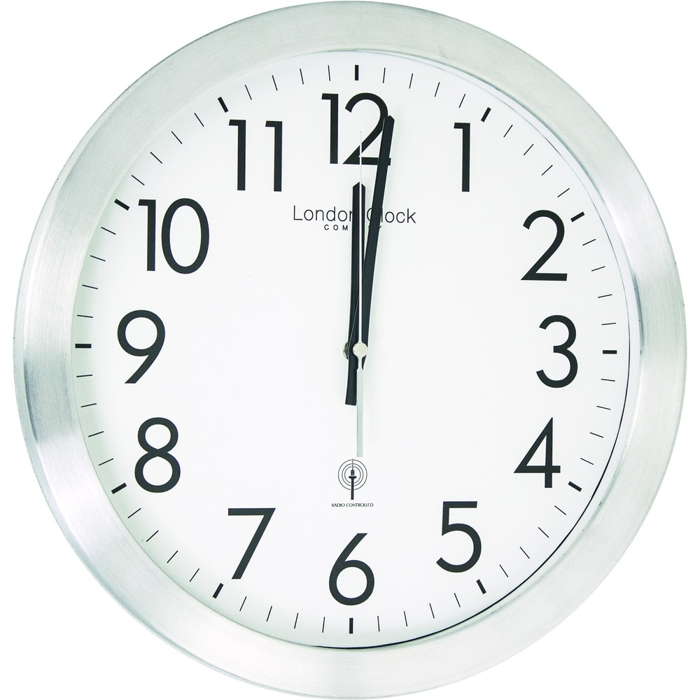 Controlled silver wall clock 35cm radio controlled silver wall clock 35cm amipublicfo Image collections