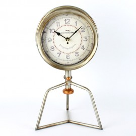Metal Case Mantel Clock Chrome Finish 41.5cm