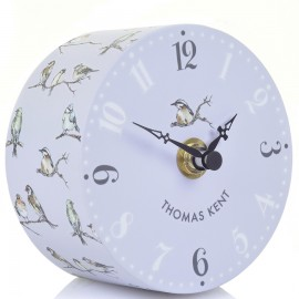 Portobello Garden Birds Mantel Clock 10cm