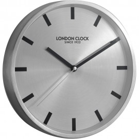 Sleek Wall Clock Silver 25cm