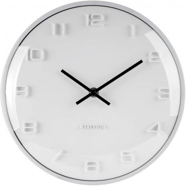 Elevated White Wall Clock 25cm