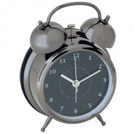 Wake Up Black Alarm Clock 21.5cm
