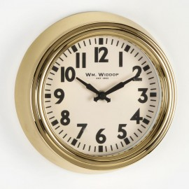 Round Metal Case Wall Clock Gold Finish 20cm