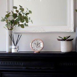 Round Rose Gold Skeleton Mantel