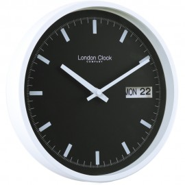 Black and White Day Date Wall Clock 25 cm