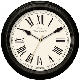 Redbourn Black Wall Clock 30cm