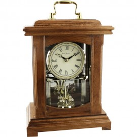 Wood Mantel Clock Lantern Style With Handle 19cm