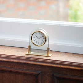 Glass Mantel Clock 13cm