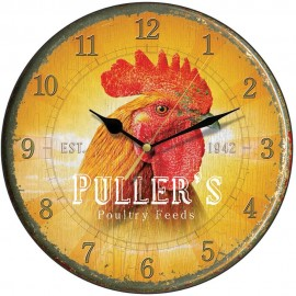 Puller's Poultry Cockerel Wall Clock 28.5cm