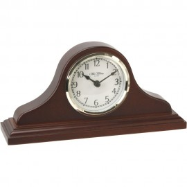 Napoleon Birch Wood Mantel Clock with Arabic Dial 24cm