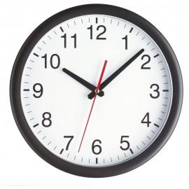 Black Wall Clock 28cm