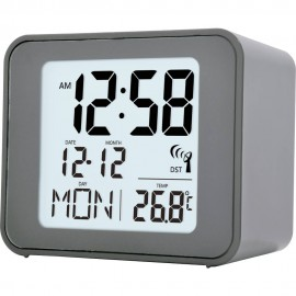 Cole Grey  Radio Controlled Alarm Clock 7.5cm