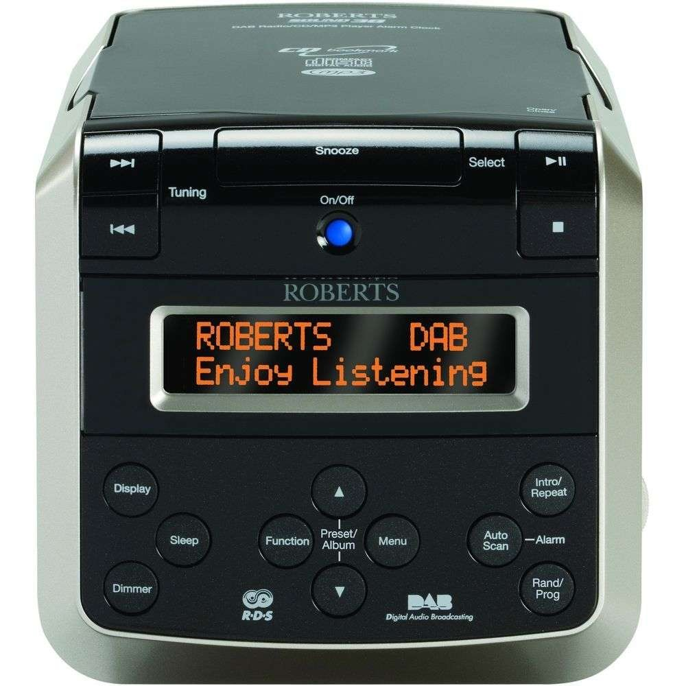 sound 38 multi alarm clock with cd player dab fm radio. Black Bedroom Furniture Sets. Home Design Ideas