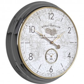 Campbell World Traveller Wall Clock 50cm