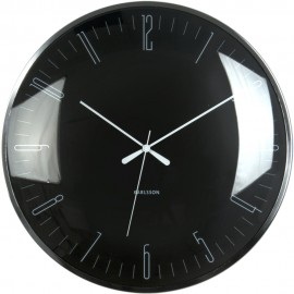 Dragonfly Black Wall Clock 40cm