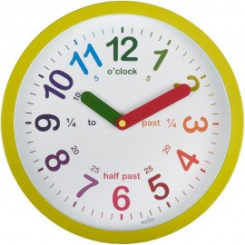 Lulu Green Time Teacher Wall Clock 26cm