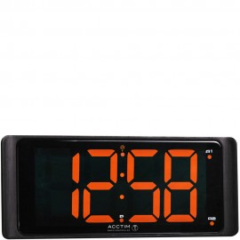 Coloma Radio Controlled Digital Dual Alarm Clock 25cm