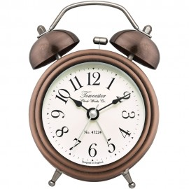 Pembridge Antique Bronze Twin Bell Alarm Clock 12.5cm